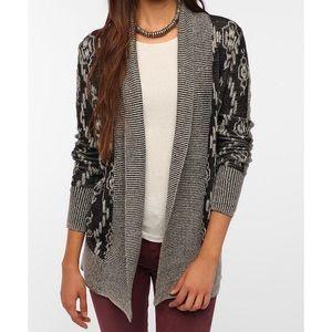 UO Intarsia Knit Cardigan Size M